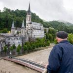 Vue sur le Gave de la terrasse de l'Accueil Notre-Dame