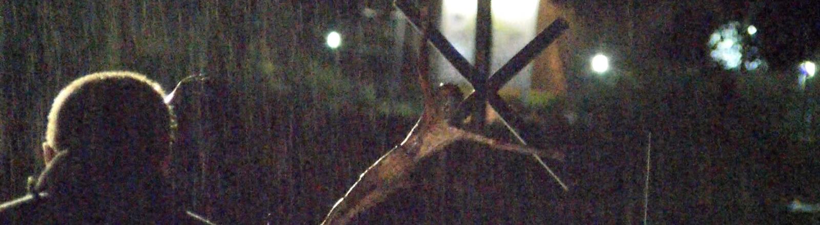 Le crucifix de la Grotte évacué le 13 juin 2018