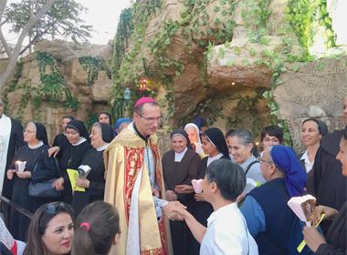 Une grotte de Lourdes près d'Amman, en Jordanie