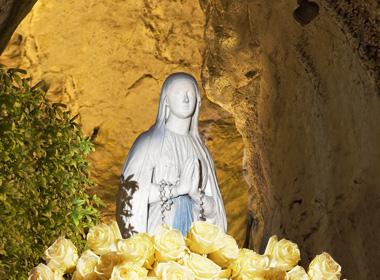 Offrez une rose à Notre-Dame de Lourdes, pour la fête de l'immaculée conception